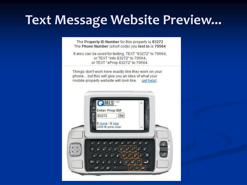 Text Message Website Preview...