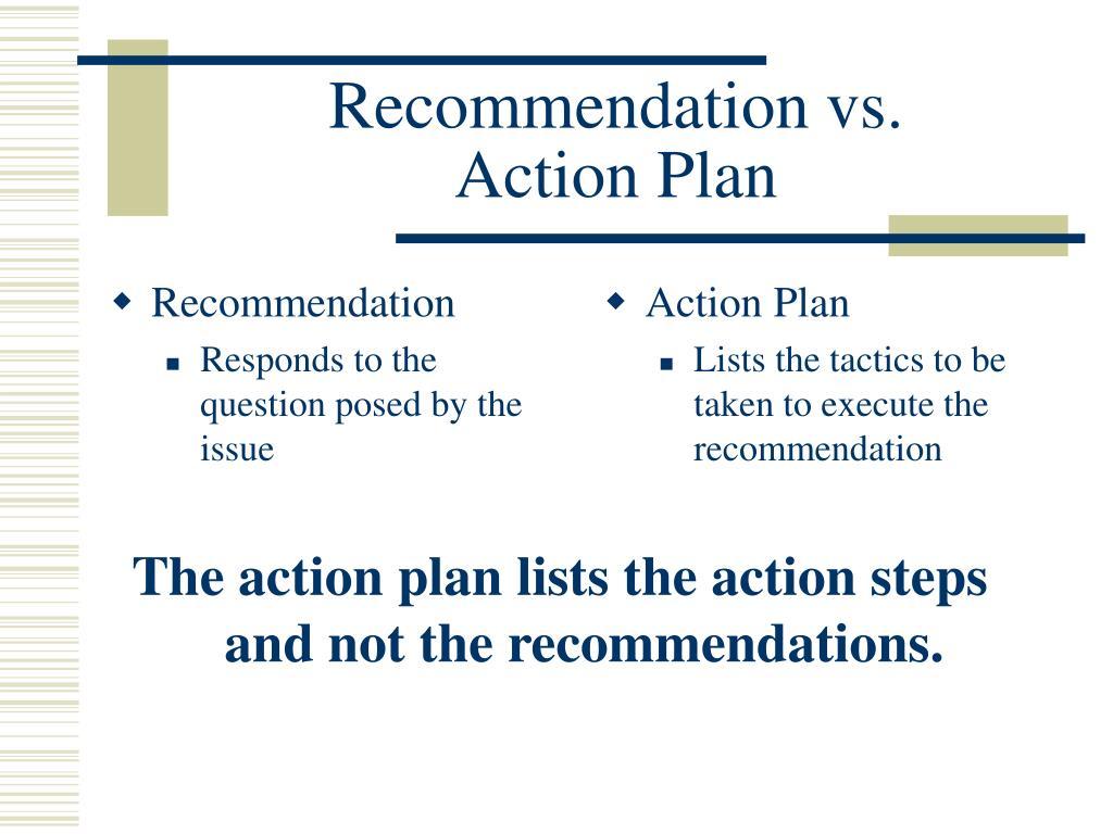 Recommendation vs.