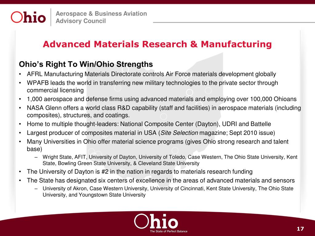 Advanced Materials Research & Manufacturing