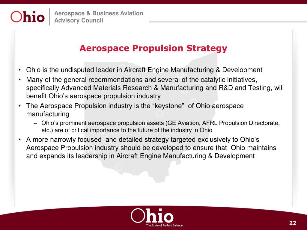 Aerospace Propulsion Strategy