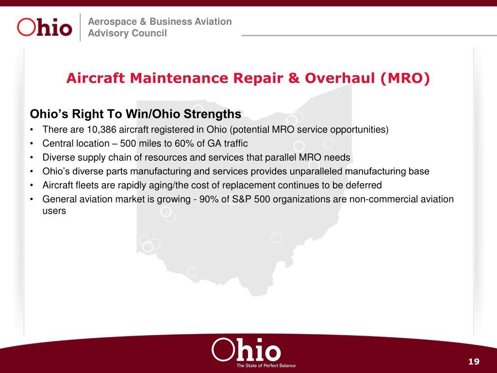 Aircraft Maintenance Repair & Overhaul (MRO)
