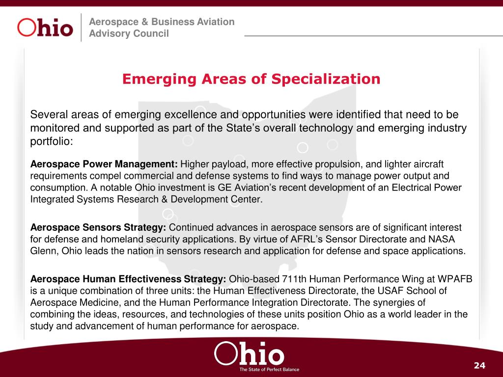 Emerging Areas of Specialization