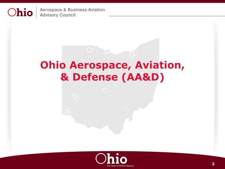 Ohio aerospace aviation defense aa d