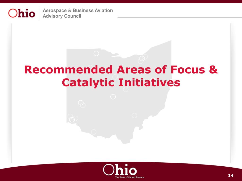 Recommended Areas of Focus & Catalytic Initiatives