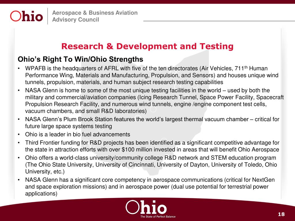 Research & Development and Testing