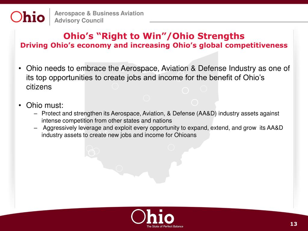 "Ohio's ""Right to Win""/Ohio Strengths"