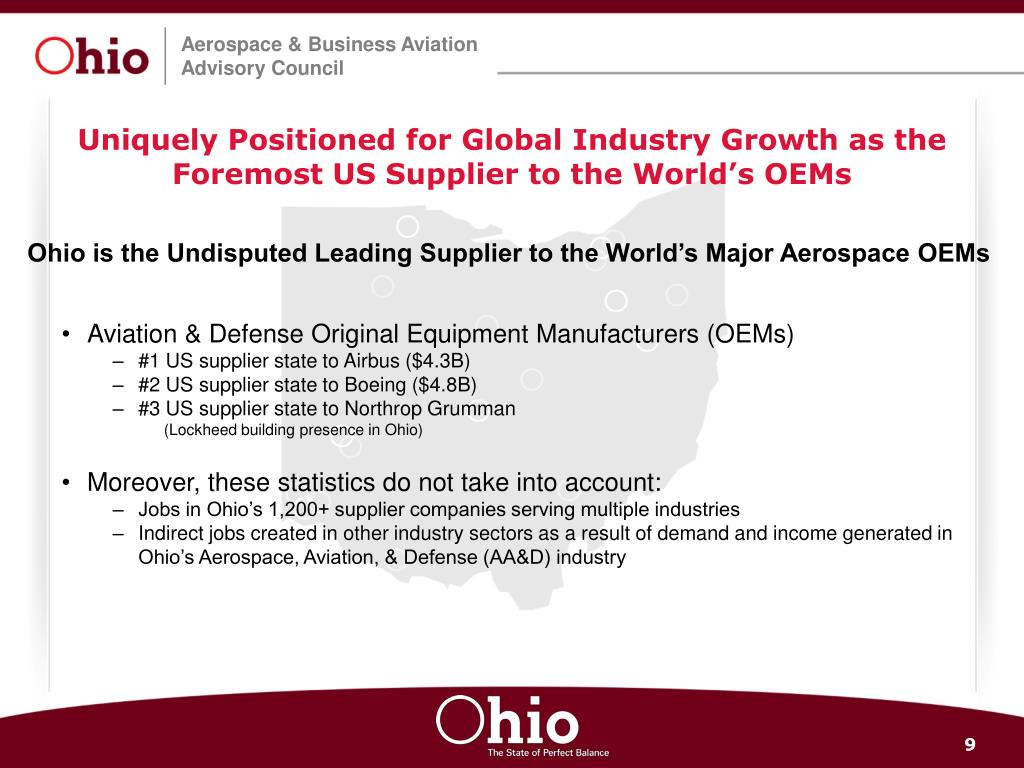 Uniquely Positioned for Global Industry Growth as the Foremost US Supplier to the World's OEMs