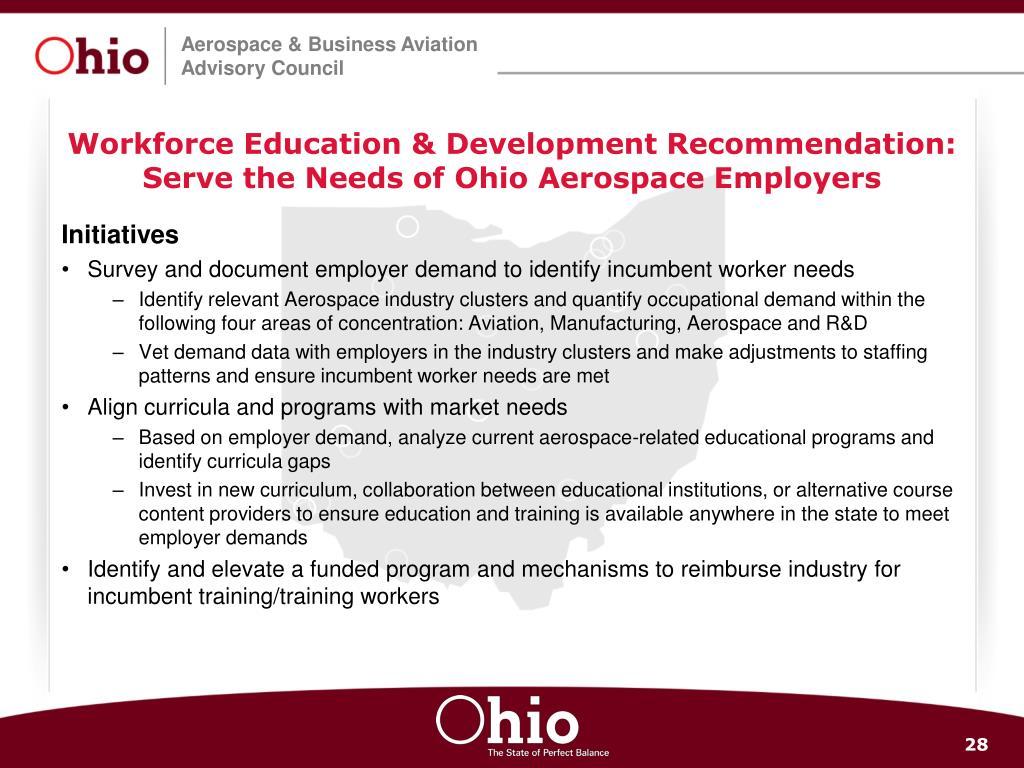 Workforce Education & Development Recommendation: