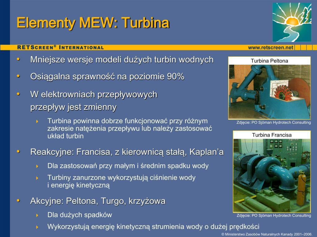 Elementy MEW: Turbina