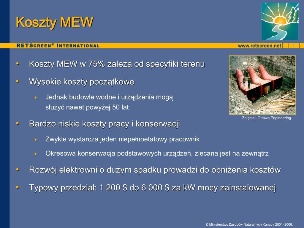 Koszty MEW