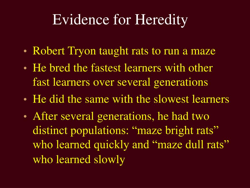 Evidence for Heredity