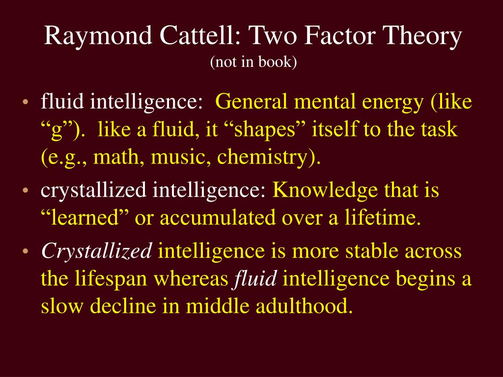 Raymond Cattell: Two Factor Theory