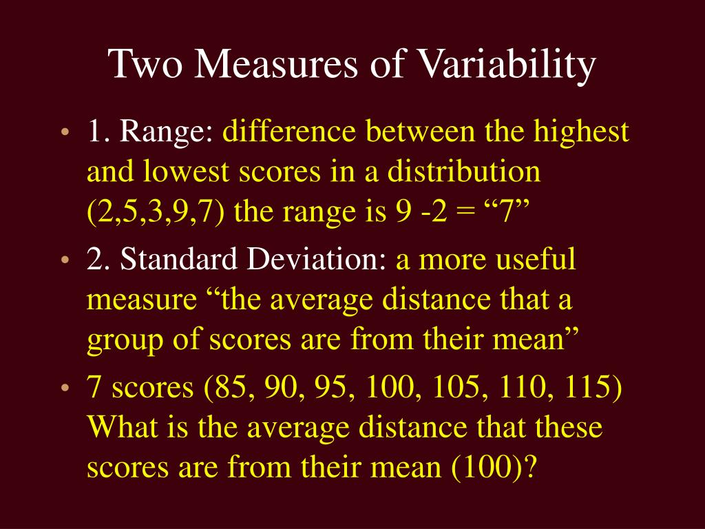 Two Measures of Variability