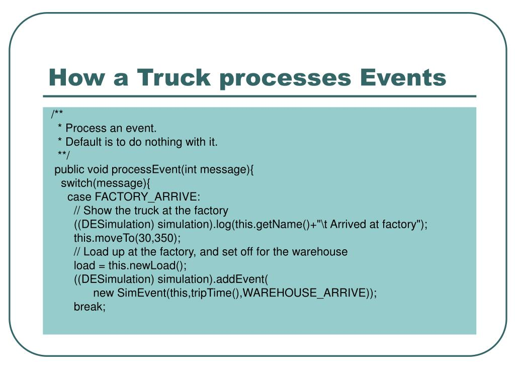 How a Truck processes Events