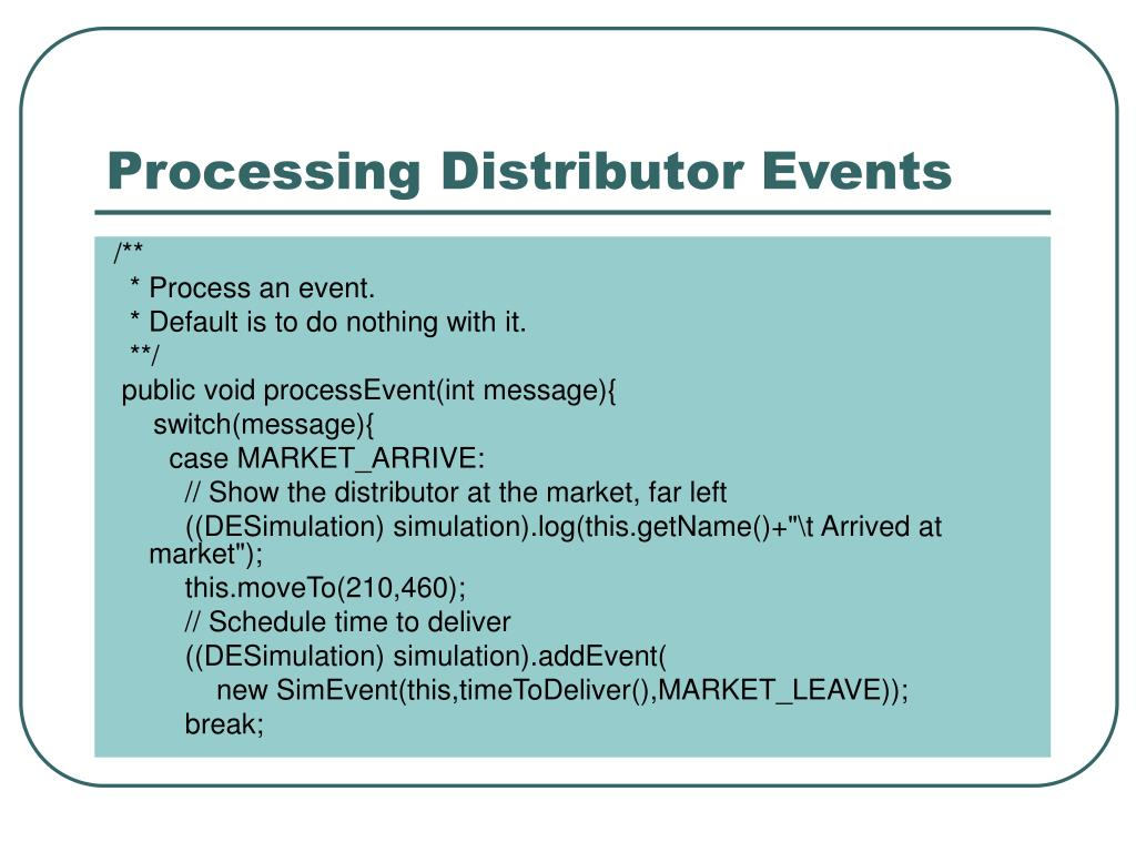 Processing Distributor Events