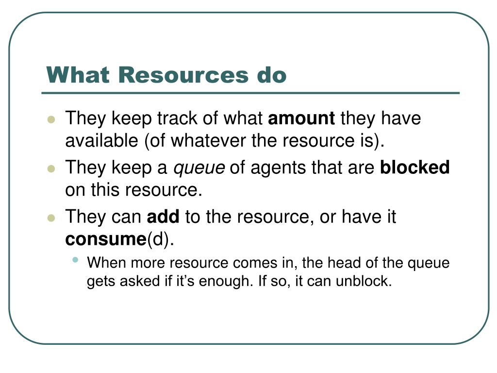 What Resources do