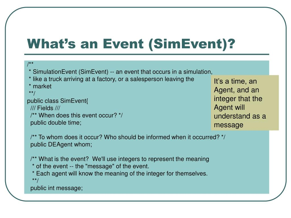 What's an Event (SimEvent)?