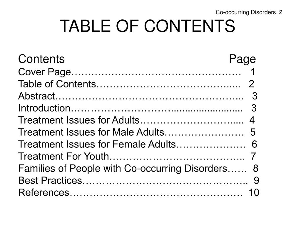 Co-occurring Disorders  2