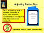 adjusting entries tips