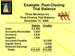 example post closing trial balance