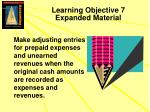 learning objective 7 expanded material
