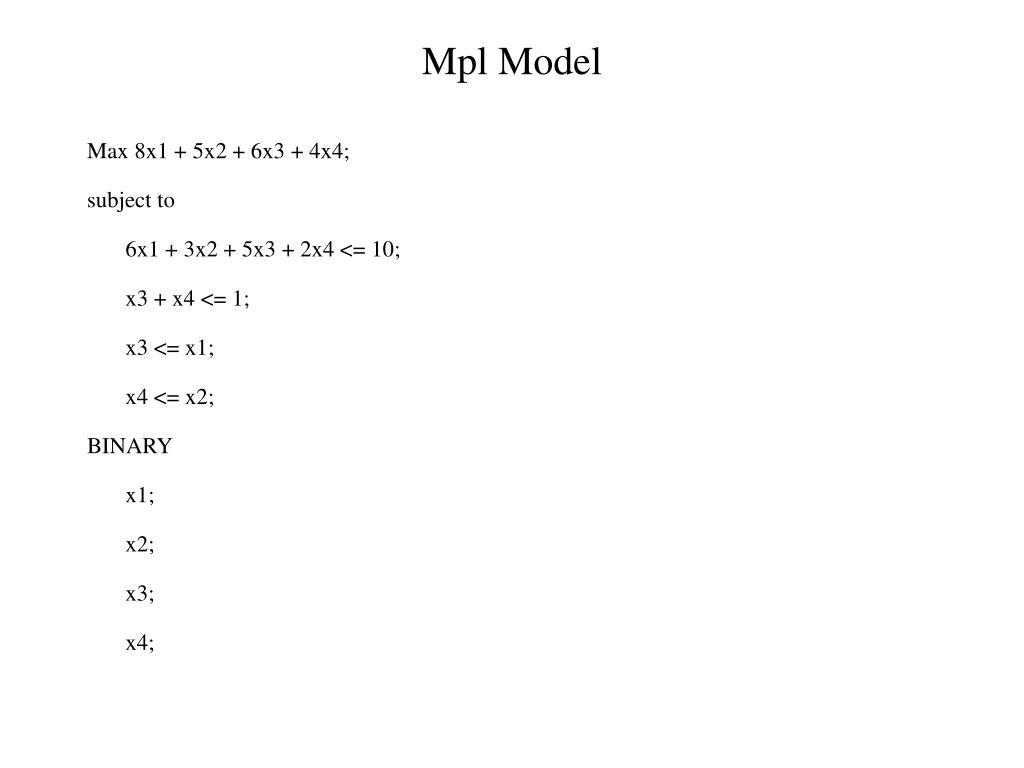 Mpl Model