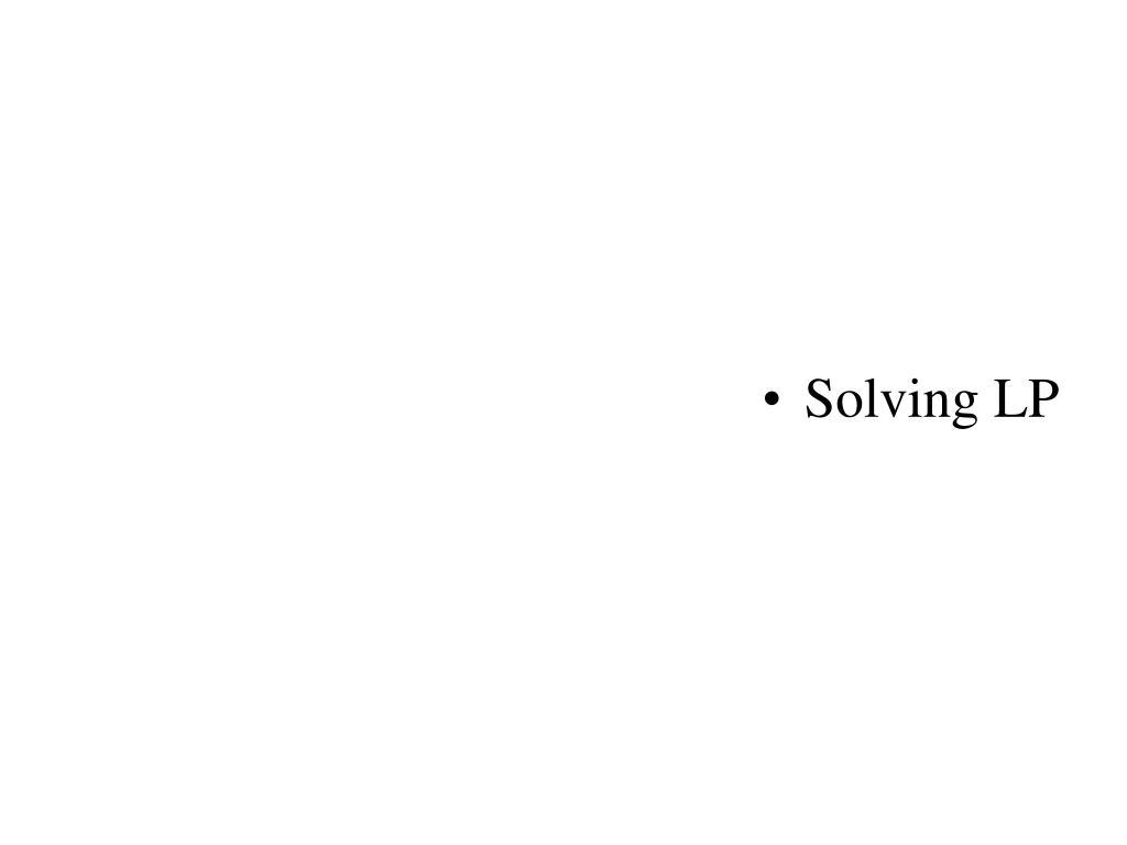 Solving LP
