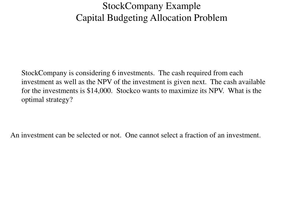 StockCompany Example