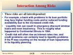 interaction among risks