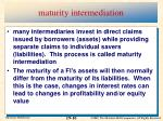 maturity intermediation