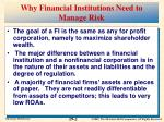 why financial institutions need to manage risk