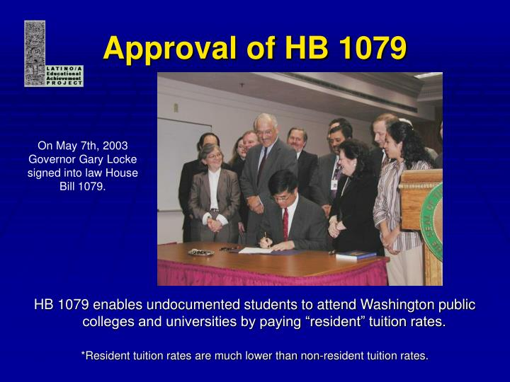 Approval of hb 1079