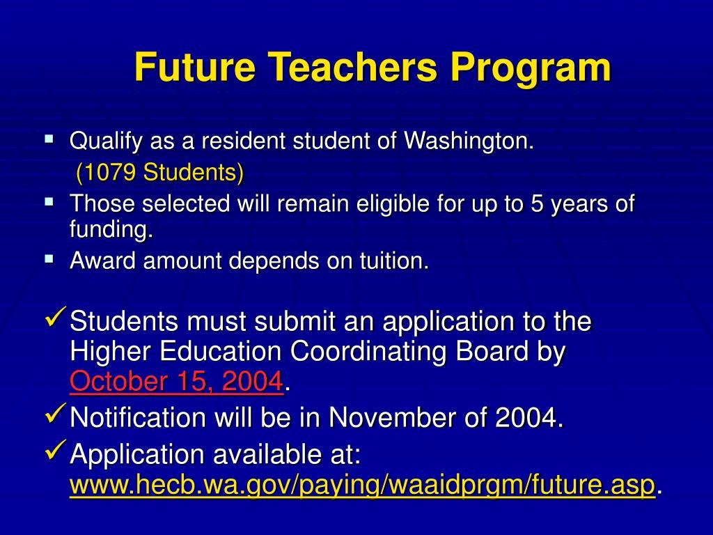 Future Teachers Program