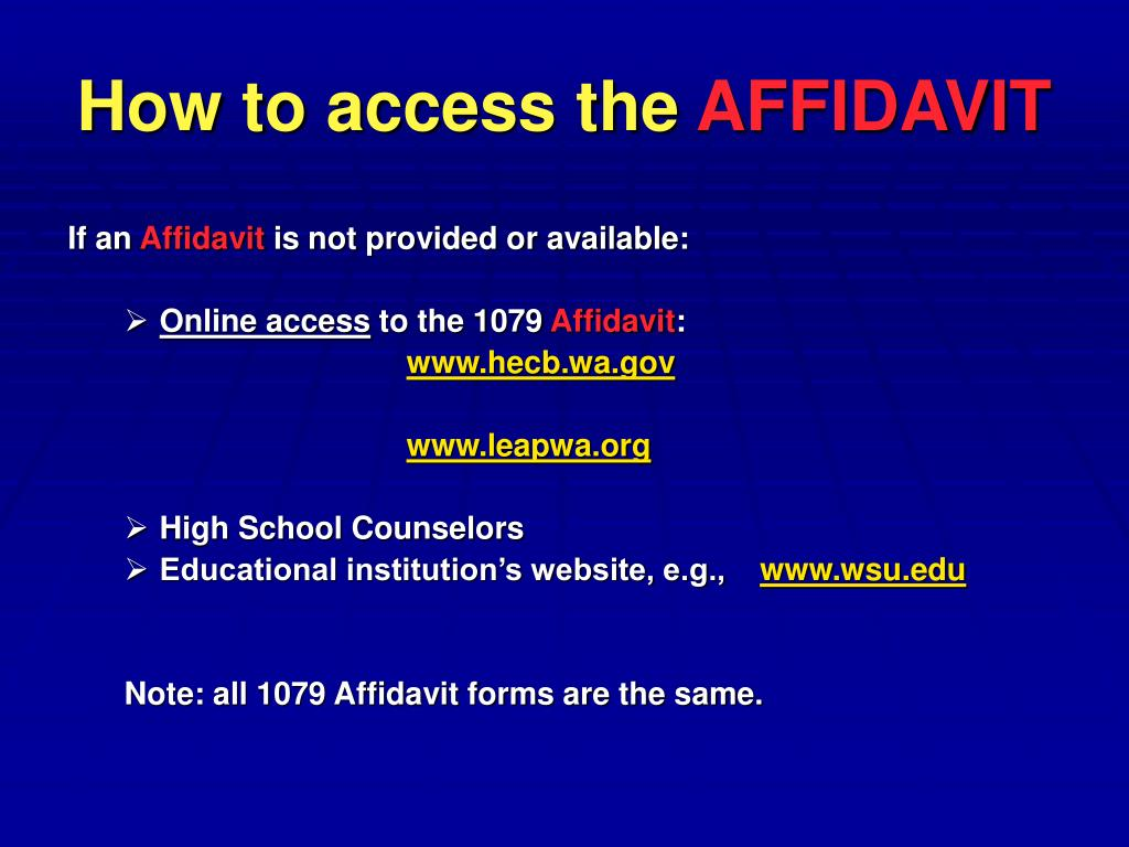 How to access the