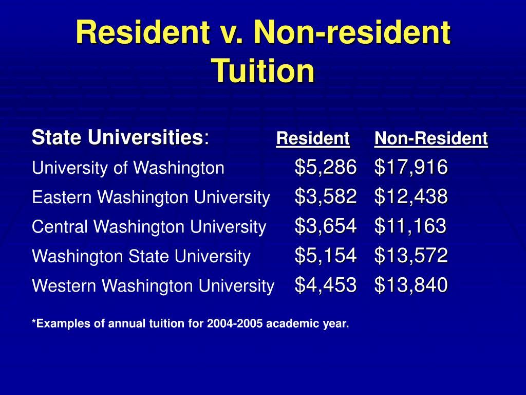 Resident v. Non-resident Tuition