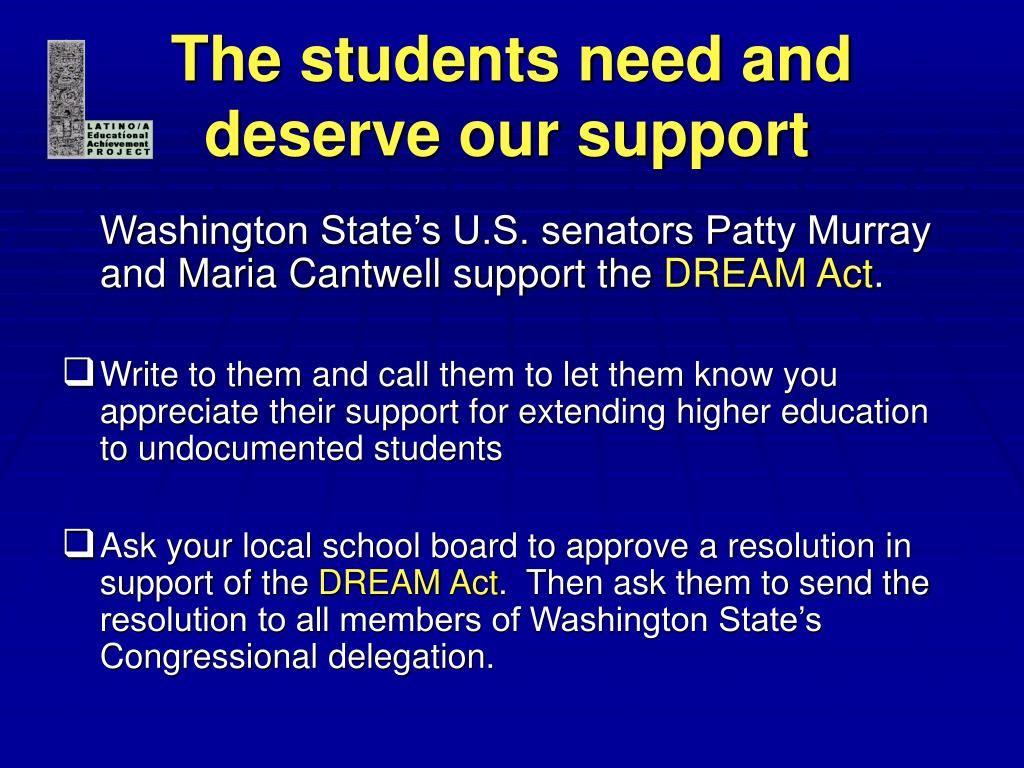 The students need and deserve our support