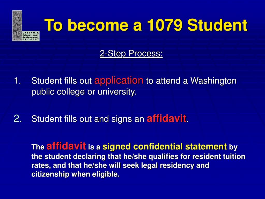 To become a 1079 Student