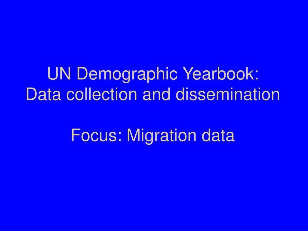 UN Demographic Yearbook: