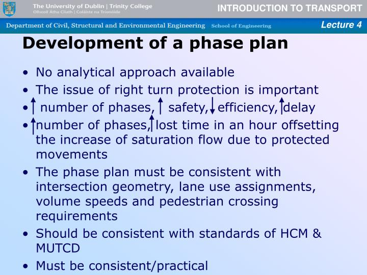 Development of a phase plan