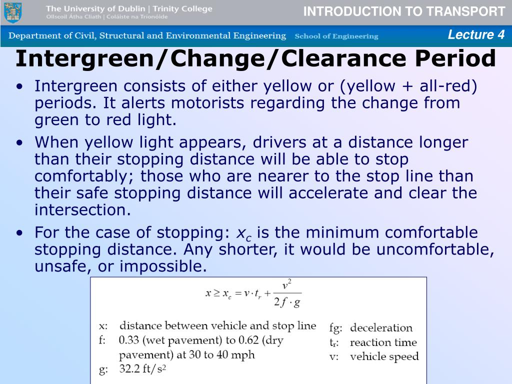 Intergreen/Change/Clearance Period