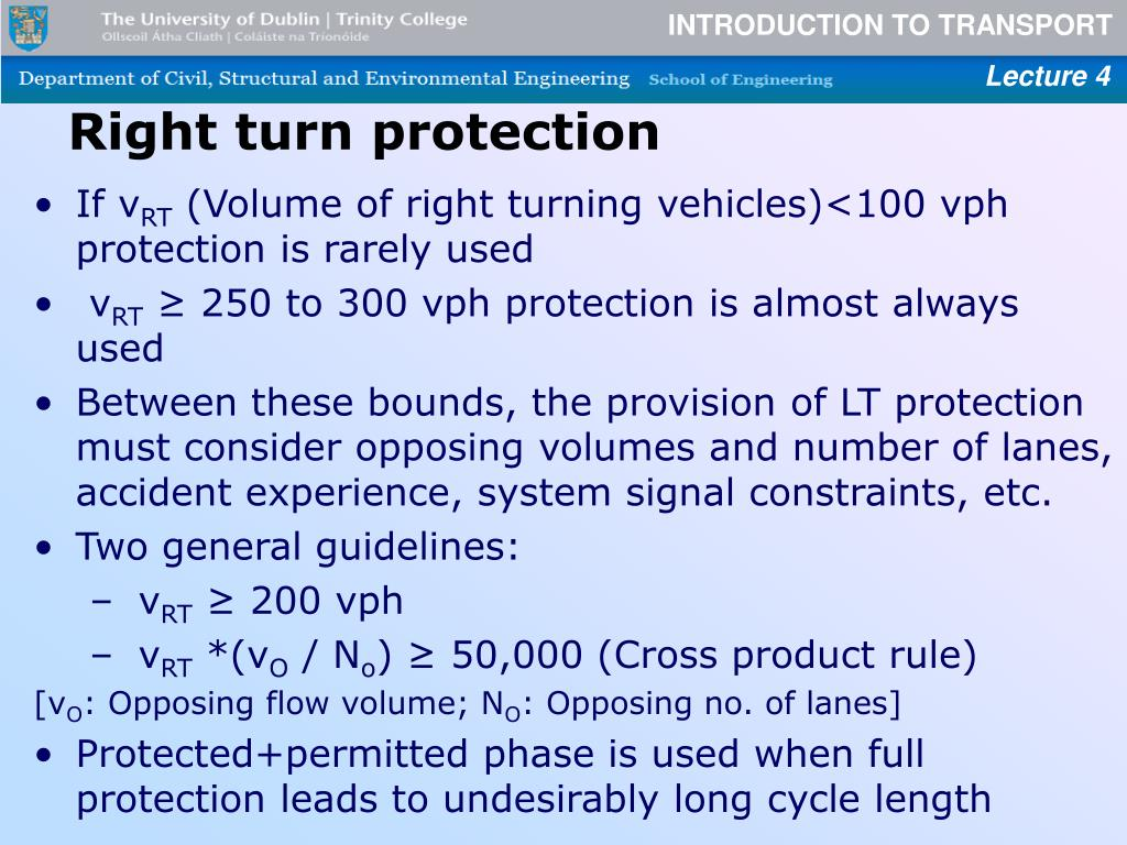 Right turn protection