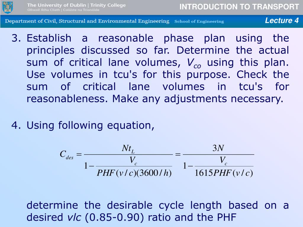 Establish a reasonable phase plan using the principles discussed so far. Determine the actual sum of critical lane volumes,
