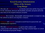 social security administration office of the actuary long range