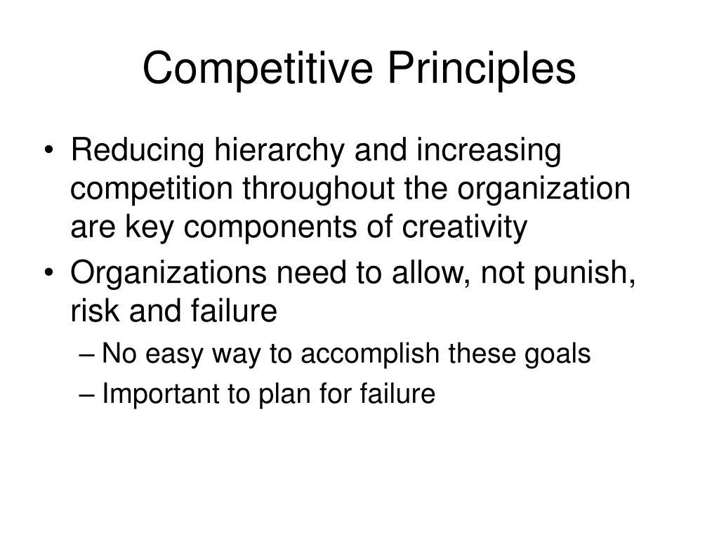 Competitive Principles
