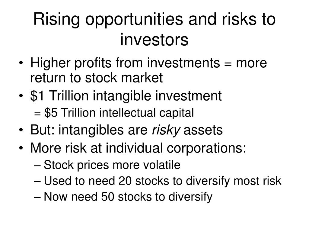 Rising opportunities and risks to investors
