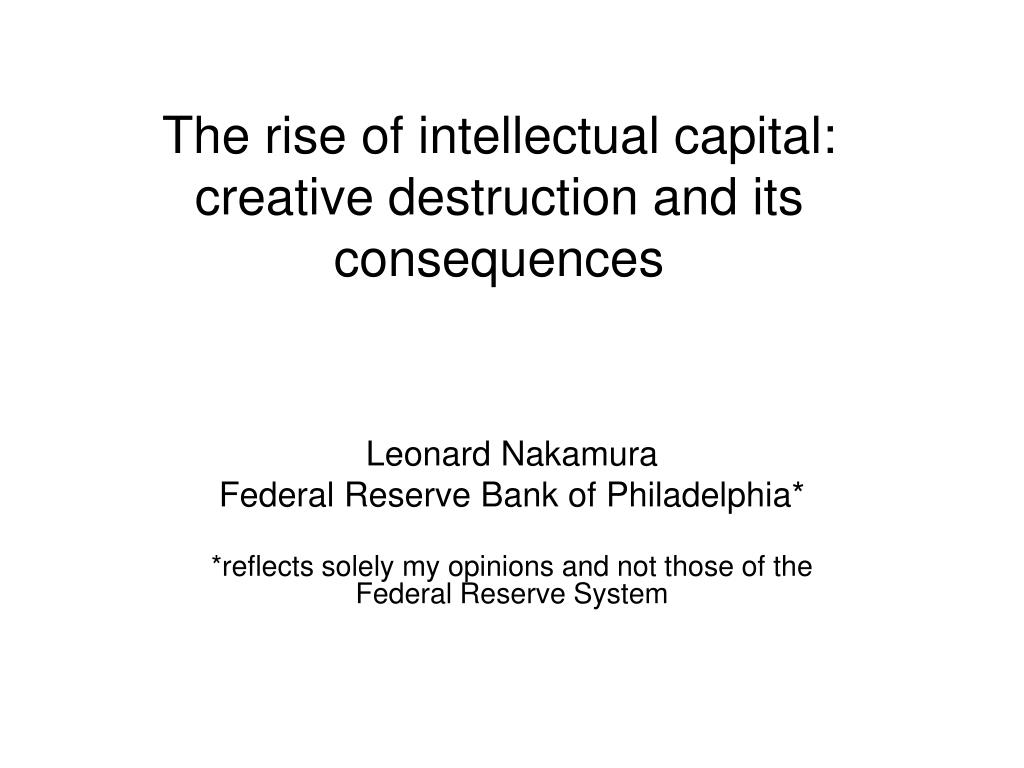 The rise of intellectual capital:
