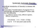 systematic automatic diversity