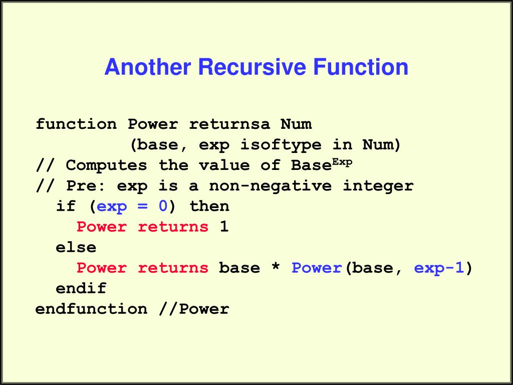 Another Recursive Function