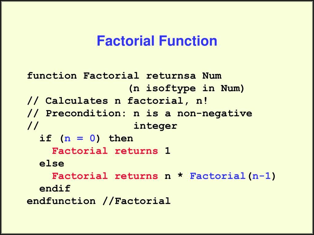 Factorial Function