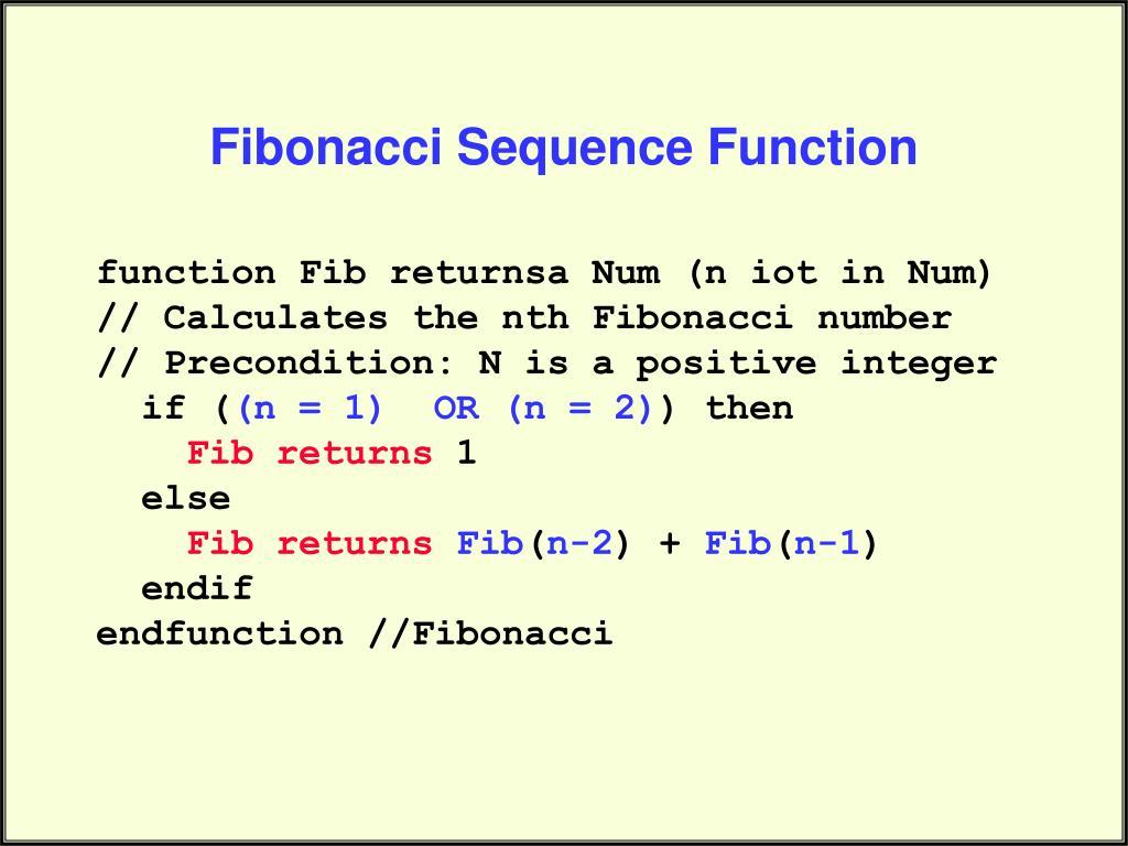 Fibonacci Sequence Function